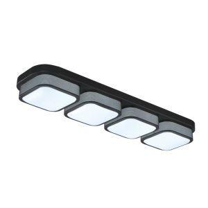 Plafonnier Led à 4 lampes L 87 cm pour salle