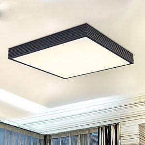 (Entrepôt UE) Lampes de plafond suspension Aluminum Moderne Led Pour Salle Chambre à coucher Balcon Carré