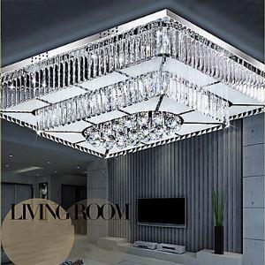 (Entrepôt UE) Plafonnier de luxe installation intégrée LED Moderne/Contemporain Salle/Chambre à coucher/Salle à manger/Chambre d'étude/Bureau verre
