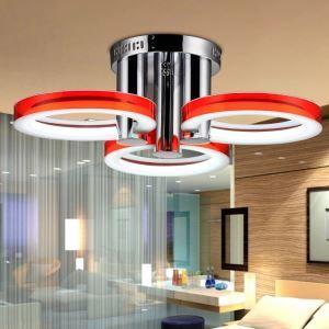 Plafonnier à 3 lampes LED cuisine acrylique D 60 cm Acier Inoxydable 18 w A++