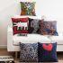 Afficher les détails pour (Entrepôt UE) Style Européen Nordique Motif de Keith Haring Tableau Connu Sept Modèles Canapés Bureau d'Oreiller Lin