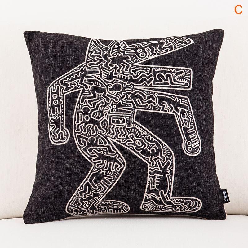 taie d 39 oreiller en lin 45 45 cm design pour canap sofa. Black Bedroom Furniture Sets. Home Design Ideas