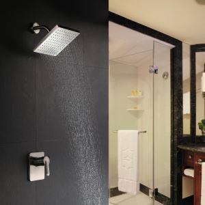 Colonne de douche encastrée laiton nickel