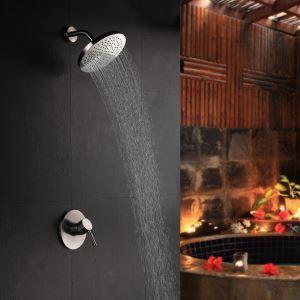 Colonne de douche encstrée laiton nikel pour salle de bains