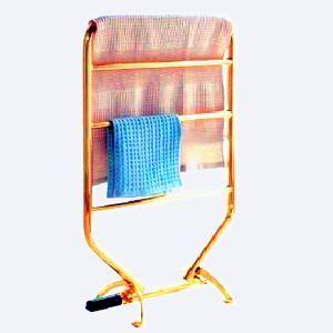 (Entrepôt UE) Moderne Simple Or Mobile en Acier Inoxydable Support de Porte-serviettes Chauffage Electrique 70W thermostatique