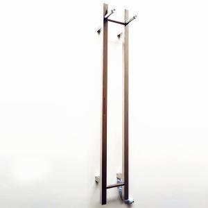 Moderne Simple Argent en Acier Inoxydable Support de Porte-serviettes Chauffage Electrique 40W