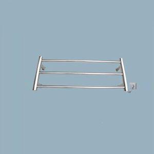 Support de Porte-serviettes Chauffage Electrique 30W thermostatique Argent en Acier Inoxydable pour salle de bain