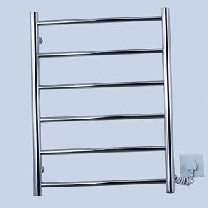 Support de Porte-serviettes Chauffage Electrique 60 thermostatique Argent en Acier Inoxydable pour salle de bain