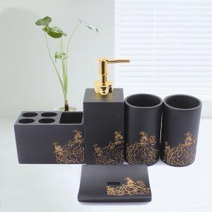 (Entrepôt UE) Moderne Simple Résine Créative Kit de Lavage Accessoires de Salle de Bain 4/5 pièces fixes