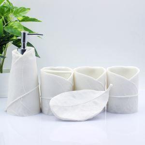 (Entrepôt UE) Moderne Simple Résine Créative ensemble 5 Pièces Accessoires de Salle de Bain