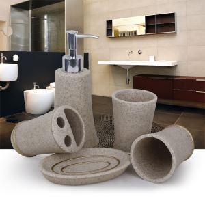 (Entrepôt UE) Moderne Simple Gravier Résine Créative Kit de Lavage Accessoires de Bain 4/5 pièces fixes
