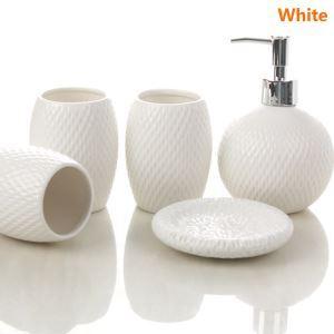 (Entrepôt UE) Moderne Simple Céramique Créative Résine Kit de Lavage de Bain d'ensemble 5 Pièces Accessoires de Salle de Bain