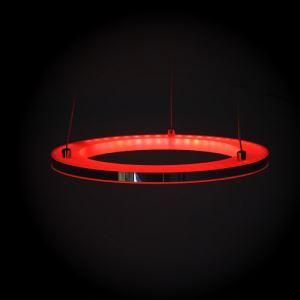 (Entrepôt UE) Moderne Simple Acrylique Salon Chambre à coucher LED RGB Lustre Suspension en forme d'anneau avec télécommande