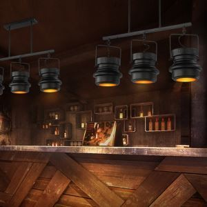 Industriel Rétro Salon Salle à manger 3 têtes peinture d'éclairage projecteur