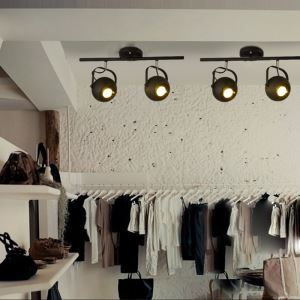 (Entrepôt UE) Spot Industriel Rétro Salon Salle à manger magasin de vêtements 2 têtes peinture d'éclairage projecteur