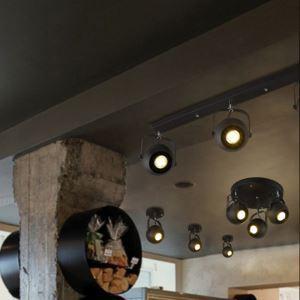 Industriel Rétro Salon Salle à manger magasin de vêtements trois têtes peinture d'éclairage projecteur