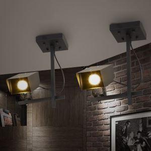 Industriel Rétro Salon Chambre à coucher peinture fer d'éclairage projecteur