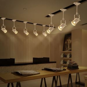 Industriel Rétro Salon Salle à manger une têtes peinture pôle d'éclairage projecteur