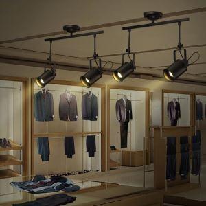 (Entrepôt UE) Spot Industriel Rétro Salon Salle à manger deux tétes trois têtes peinture pôle d'éclairage projecteur