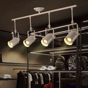 (Entrepôt UE) Projecteur Industriel Rétro pour Salon Salle à manger 4 lampes pôle d'éclairage