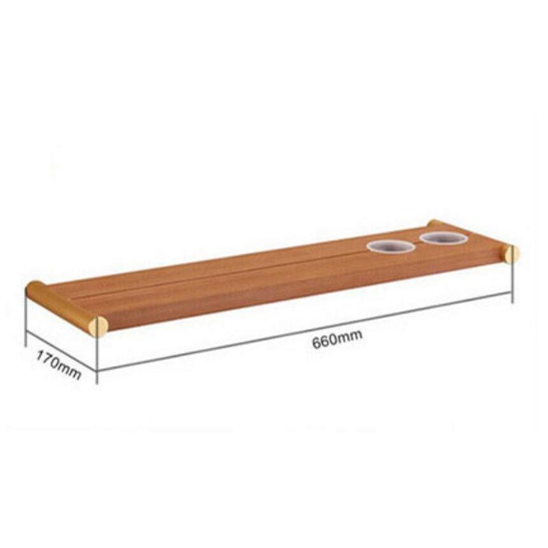 Style européen simple Accessoires de salle de bain en bois Etagères
