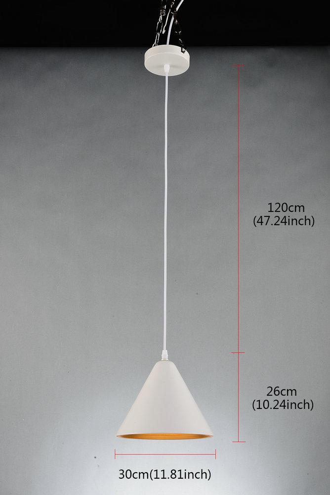 suspension aluminium blanc d30cm simple pour cuisine chambre salle. Black Bedroom Furniture Sets. Home Design Ideas
