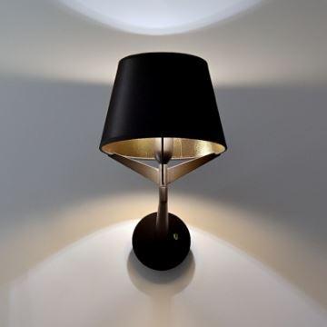 Applique Murale En Tissu Noir H 32 Cm Design Lampe Murale Pour Chambre