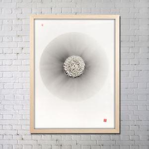 Art contemporain Vaporisateur Origami numérique Peinture sans cadre tendu