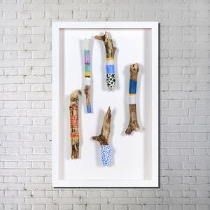 Art contemporain Nombre de bois amusant en nature sans cadre tendu