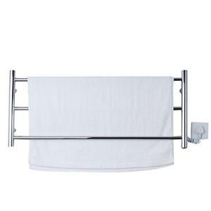 Sèche-serviette en acier inox 50W thermostatique L 88 cm pour salle de bain toilettes