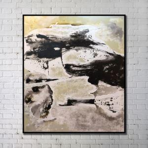 """Art contemporain Peinture numérique abstraite de pulvérisation+Peints à la main cadre noir Taille36""""X40"""""""