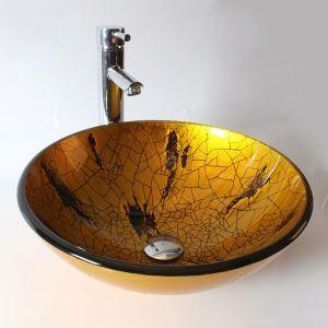 Vasque à poser verre trempé rond pour salle de bainspour salle de bains