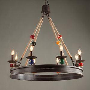 (Entrepôt UE) Américain Rural Industriel Rétro Antique lampe, Fer forgé Lustre Bar Café bar Billard Suspension