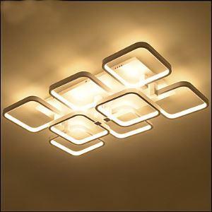 (Entrepôt UE) Rectangulaire Atmosphérique Créative lampe LED Plafonnier lampes