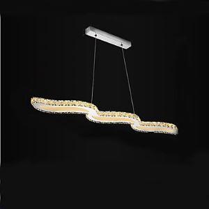 (Entrepôt UE) Lustre LED Atmosphérique Magasin de vêtements Cristal Pendentif