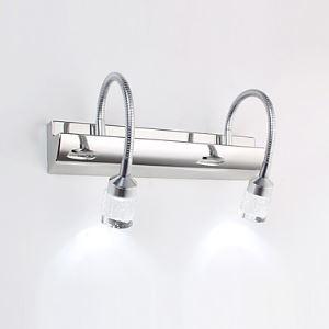 Lampe 2 spots LED intégrée 6W L 32 cm pour salle de bain
