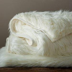 (Entrepôt UE) Plaid fausse fourrure composite thermique couverture tapis de fourrure