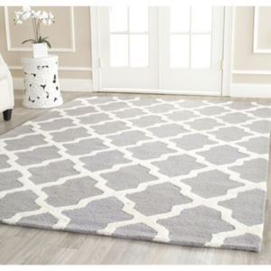 (Entrepôt UE) Simple Mode treillis géométrique Canapé salon table basse chambre chevet tapis de tapis faits à la main en acrylique