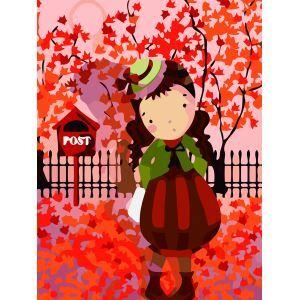 Moderne simple DIY peinture à l'huile peinte à la main automnefille peinture décorative 30*40