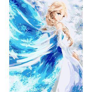 Moderne simple DIY peinture à l'huile peinte à la main La reine de neige peinture décorative 40*50
