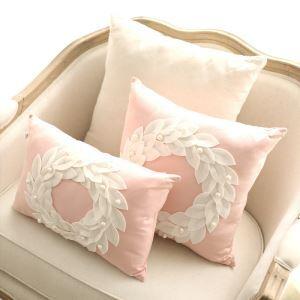 (Entrepôt UE) Nouveauté créative Rose Romantique canapé de style européen oreiller lombaire Jardin coton sauvage coussins en tissu 45*45cm