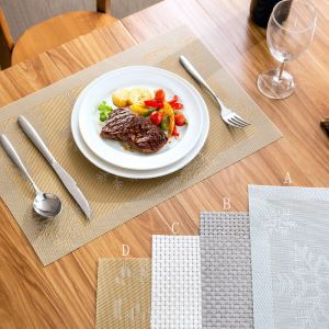 (Entrepôt UE) Set de table Anti-brûlure tapis de pad thermique Creative Bol table mat napperons Lot de 4