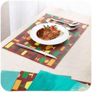 (Entrepôt UE) Set de table Pvc mat imperméable tapis de table isolation Bol Tapis de plaque anti-chaude Lot de 4