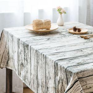 (Entrepôt UE) Rétro nappes en tissu de coton café rectangulaire tapis de table épais