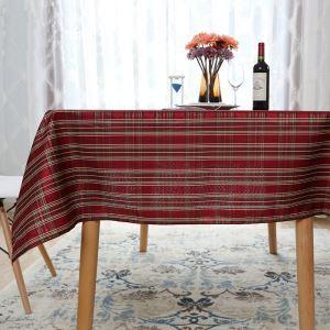 (Entrepôt UE) Festival littéraire du Nouvel An thé grille nappe de table occidentale Rouge or chaud et argent