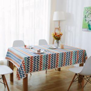 (Entrepôt UE) Europe nordique Frais Pop Art Moderne canevas épais coton linge dentelle nappe de table linge