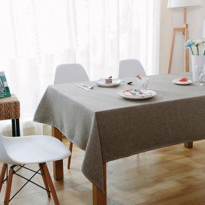 Moderne Rouge et bleu linge Brun café nappe de table table basse nappe rectangle rond