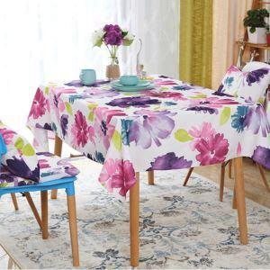 Fleurs encre indélébile rurale Tissu rectangle arrondi nappe de table basse de linge