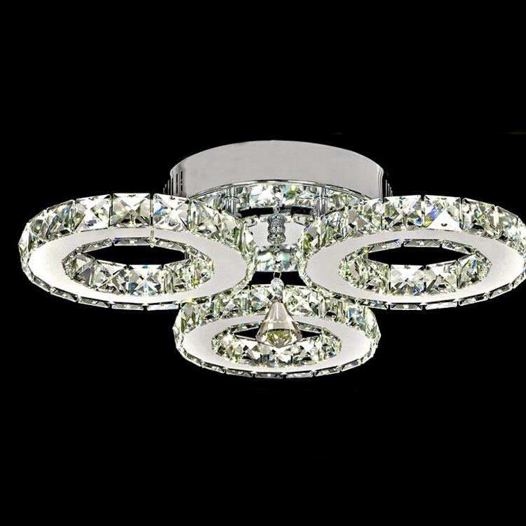 UePlafonnier Lampe Installation Transparent Montage Led Lampes Auentrepôt AmpoulesModerne De Plafond Intégrée3 Cristal Nwm8n0v