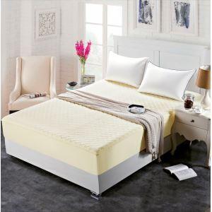(Entrepôt UE) Une pièce lit en coton épais boutis protège-matelas180*200cm